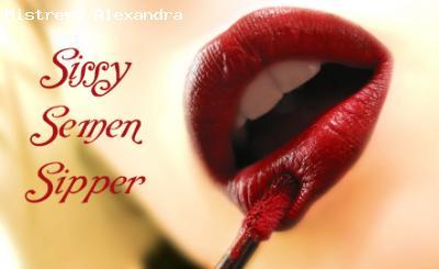 Sissy Semen Sipper