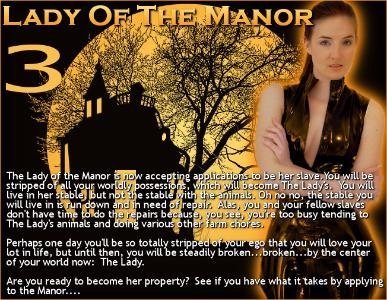 Lady of the Manor, Pt. 3